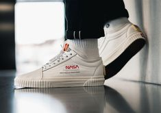 Vans x NASA sneakers land today. Vans has gone to the moon and beyond with their latest sneaker collab . According to repor. Sock Shoes, Men's Shoes, Nike Shoes, Old School Vans, Vans Old Skool, Puma Platform, Platform Sneakers, Mens Vans Shoes, Vans Footwear