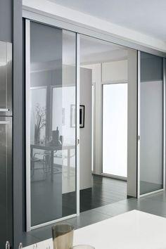 Porte coulissante galandage lapeyre en applique cloison porte wall door - Porte en applique lapeyre ...