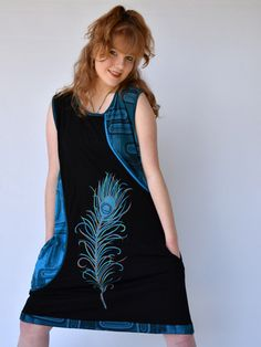 Loving the feather detail on this dress Hippie Dresses, Hippie Outfits, Feather, Summer Outfits, Boho, Detail, Tank Tops, Clothes, Women