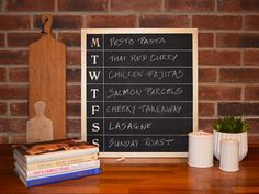 chalkboard planner Paint Refrigerator, Painted Fridge, Make A Chalkboard, High Gloss Kitchen, Real Cooking, Liquid Chalk Markers, Meal Planner, Spray Painting, Clear Acrylic
