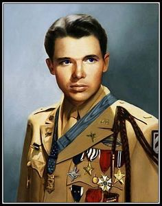"Audie Murphy (June 20, 1924 – May 28, 1971) was a highly decorated and famous soldier. Through LIFE magazine's July 16, 1945 issue (""Most Decorated Soldier""/cover photo), he became one the most famous soldiers of World War II and widely regarded as the most decorated American soldier of the war. After the war he became a celebrated movie star for over two decades, appearing in 44 films. Murphy was killed when the private plane in which he was a passenger crashed."