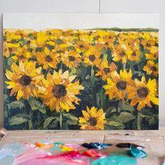 Sunflower Print, Sunflower Fields, Flower Paintings, Prints, Flowers, Instagram, Art, Paintings Of Flowers, Craft Art