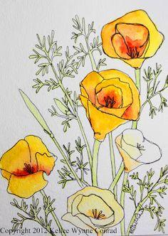 watercolor flower, Kellee Wynne Conrad