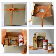 This is a beautiful gift that will brighten anyone's morning. Whether you want to give a personalized hostess gift or simply send a little joy, this kit of breakfast in a box will be sure to bring a s