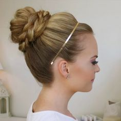 """Video preview ▶️ Watch the full Braid Wrapped High Bun tutorial at MissySue.com/hz61 or click the link in my bio!"