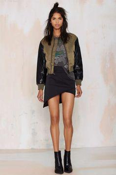 Nasty Gal Ray Bomber Jacket - Jackets + Coats