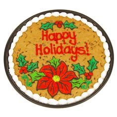 Holiday Floral Cookie Cake | Cookies by Design