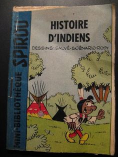 Old Vintage Mini-Bibliotheque Spirou: Histoire d' Indiens 60's years by Dupuis