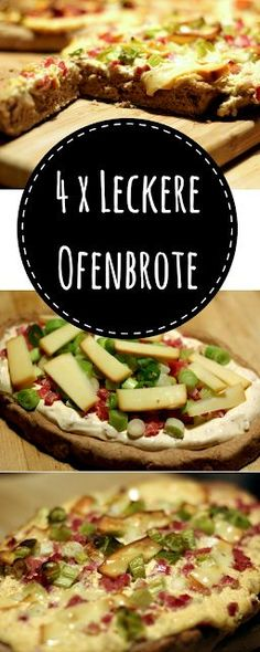 Rezept-Idee: Vollkorn-Ofenbrote - 4 mal anders