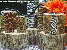 4 Tree Stumps For Safari Wedding Centerpieces, Rustic Weddings, Western Weddings, Country Weddings