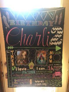 Charli's bday board