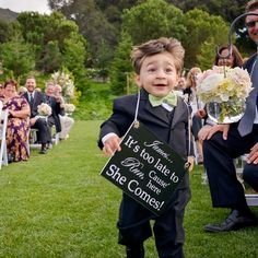 Such a cute idea for the ring bearer