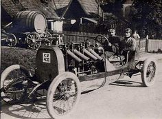 OPEL Racing Car 180 HP. Prepared for the Semmering Hillclimb 1909. The German Carl Joerns reached in this XI Semmering race so after all the fourth-best time in the category racing cars.