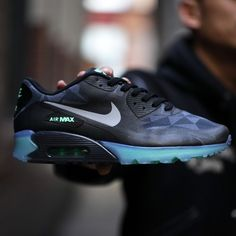 hot sales b6d3c 675c1 Nike Air Max 90 ICE - Black - Cool Grey - Blue - SneakerNews.com