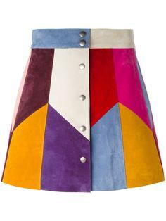 Shop Marc Jacobs rainbow panel mini skirt .