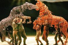 Oh how I want to go see this in London. War Horse at the National Theatre. Amazing giant puppets.