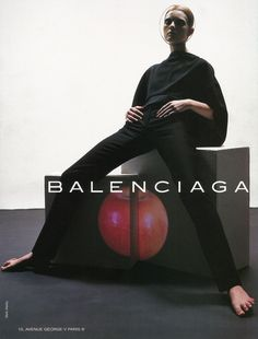 by mark alesky for balenciaga spring campaign 1998.