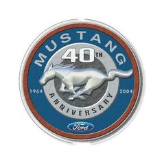 Plaques & Signs Ford Mustang Anniversary Round Tin Sign Nostalgic Metal Sign Home Decor & Garden Bel Air, 1964 Ford, Decorative Signs, Tin Signs, 40th Anniversary, Metal Tins, Shop Signs, Retro, Ford Mustang