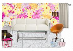 Fun with Honeysuckle Floral by casart. Create your own interior design moodboard now! Get In The Mood, Flower Power, Love Seat, Create Your Own, Design Boards, Couch, Interior Design, Mood Boards, Floral