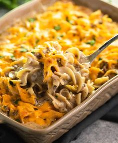 hamburger meat recipes This easy, make-ahead casserole is everything you love about Beef Stroganoff with the convenience of using ground beef and a handful of simple ingredients. No canned soup here, the flavor is all homemade! Ground Beef Stroganoff, Pollo Stroganoff, Hamburger Stroganoff, Beef Stroganoff Casserole Recipe, Beef Casserole Recipes, Casserole Dishes, Casserole Ideas, Beef Recipes For Dinner, Ground Beef Recipes