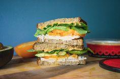 Smoked Turkey, Bibb Lettuce, Heirloom Tomato, Avocado, Roasted Red Pepper Hummus on Toasted Multigrain Bread