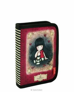 Empty Pencil Case with 2 Flaps - The Collector, Santoro's Gorjuss