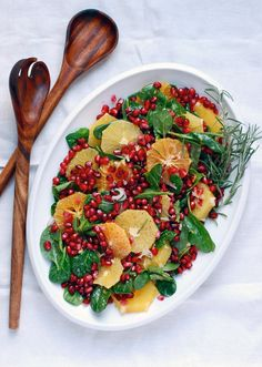 "Orange And Pomegranate Salad Recipe! Love how this salad looks!  The colors on this salad scream: ""Merry Christmas"":) It is a nice combination of sweet and sour, my favorite flavors, I know I am going to love it."