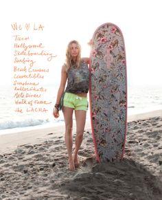 LA Girl – After taking a look at NYC style, fashion retailer Free People hones in on Los Angeles style with Australian model Jessica Hart soaking up the sun in… Jessica Hart, Karlie Kloss, Fringe Tank, Sup Yoga, I Love The Beach, Australian Models, Pink Summer, Summer Loving, Summer Chic