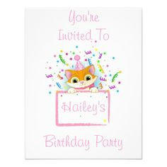 Birthday Kitty Invitations