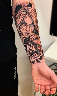 Chicano Tattoos Sleeve, Tribal Arm Tattoos, Girl Arm Tattoos, Best Sleeve Tattoos, Tattoo Sleeve Designs, Forearm Tattoos, Life Tattoos, Hand Tattoos, Body Art Tattoos