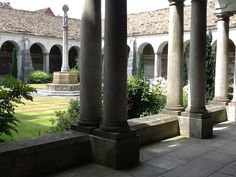 War memorial cloister at Winchester college, 1924 by Herbert Baker. Winchester College, Flint Stone, India House, Trafalgar Square, Fountain, Medieval, Vineyard, Outdoors, Exterior