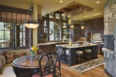 Cozy Country/Rustic Kitchen by Jerry Locati on HomePortfolio  Thud!  OMG!  THIS IS AWESOME!