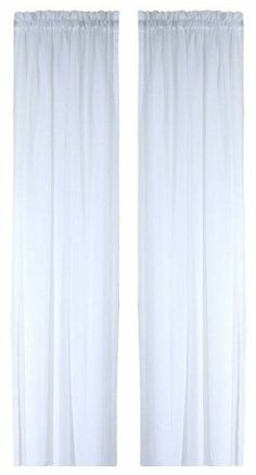 """Ricardo Oyster Bay Sheer Voile Curtain Panel, 45-Inch Long, White by Ricardo. $9.00. 1.5"""" Header. 5"""" Bottom  Hem. 1.5"""" Rod Pocket. Hard To Find Size. 1"""" Side Hems. 100% Polyester. Oyster Bay Classic Sheer Voile Panel"""