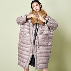 >> Click to Buy << Original Design High Quality Women's Fashion Down Parka Female Cocoon Style Loose Long Down Jacket (Excluding Fur Collar) #Affiliate