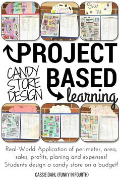 Engage your students with a hands-on project. They will practice area, perimeter, sales, profits and so much more! After designing their candy store, students will walk through the pricing and inventory process. Math Strategies, Math Resources, Learning Activities, Money Activities, Winter Activities, Candy Store Design, Area And Perimeter, Third Grade Math, Fourth Grade