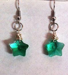 Little light green Swarovski crystal star by BeadingByJenn on Etsy, $15.00