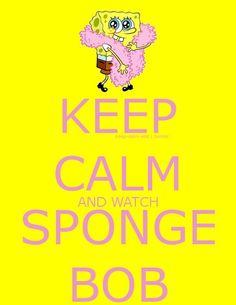 Spongebob Squarepants Keep Calm Wisdom