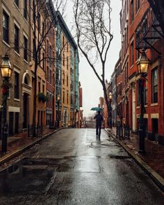 Boston, in a rainy day #travel #usa #boston #rainyday #cityscape