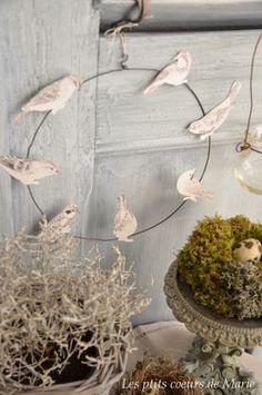 DIY oiseaux en papier ...   Source : http://lesptitscoeurs.canalblog.com/