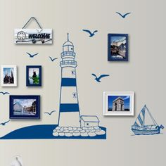 Removable tower sailboat sea gull photo pattern wall stickers. Pattern: Tower   Sailboat   Sea Gull   Photo. Features: Removable Wall Stickers, DIY Decorations. Type: Wall Sticker. Due to the light and screen setting difference, the item's color may be slightly different from the pictures. | eBay!