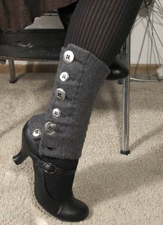 Button Legwarmer Spats i need to make something like this..because i always wear flats an don't have the instep for the strapping