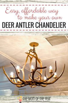 How to make an antler chandelier diy tutorial chandelier top diy deer antler chandelier aloadofball Images