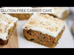 This Gluten-Free Carrot Cake is moist, fluffy and super flavorful. It's free of grains, gluten and refines sugar and so easy to make. This carrot cake w. Why Gluten Free, Gluten Free Baking, Vegan Baking, Dairy Free, Sin Gluten, Clean And Delicious, Gluten Free Carrot Cake, Ceramic Baking Dish, Easter Brunch