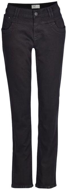 Pulz Jeans Tenna Straight High Waist Black Denim