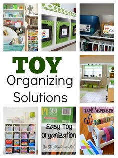 15 Toy Organizing Solutions -- creative solutions for organizing all the kids' toys and other belongings!