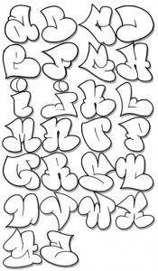 Graffiti tekenen - voorbeelden van bubbel letters