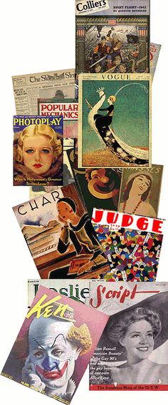 Old magazine articles - The SCRIPT cover is Alice Faye.