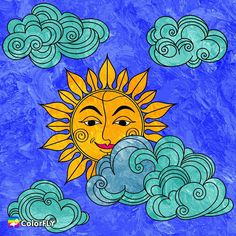 Sun Art, Points, Zentangle, Sunshine, Moon, Colour, Artwork, Painting, Drawings
