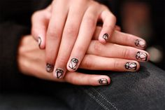 Bibhu Mohapatra's fall 2013 Art Deco nails. | http://www.makeup.com/article/bibhu-mohapatra-fall-2013-beauty-report/