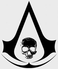 Beautiful Assassin's Creed IV: Black Flag artwork uploaded by IronMan - Insignia (Black) Assassins Creed Symbol, Assassins Creed Black Flag, Black Flag Logo, Video Game Logos, Assassin's Creed, Artworks, Geek Stuff, Pasta, Symbols